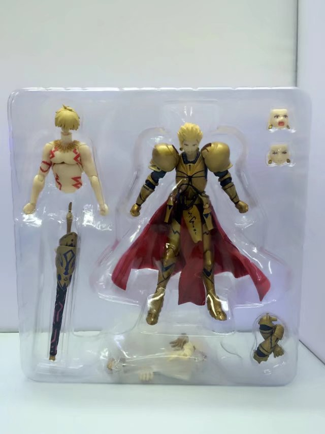 Anime Fate/stay night Fate Grand Order Archer Gilgamesh Figma 300 PVC Action Figure Collection Model Kids Toys Doll 15cm 2018 2