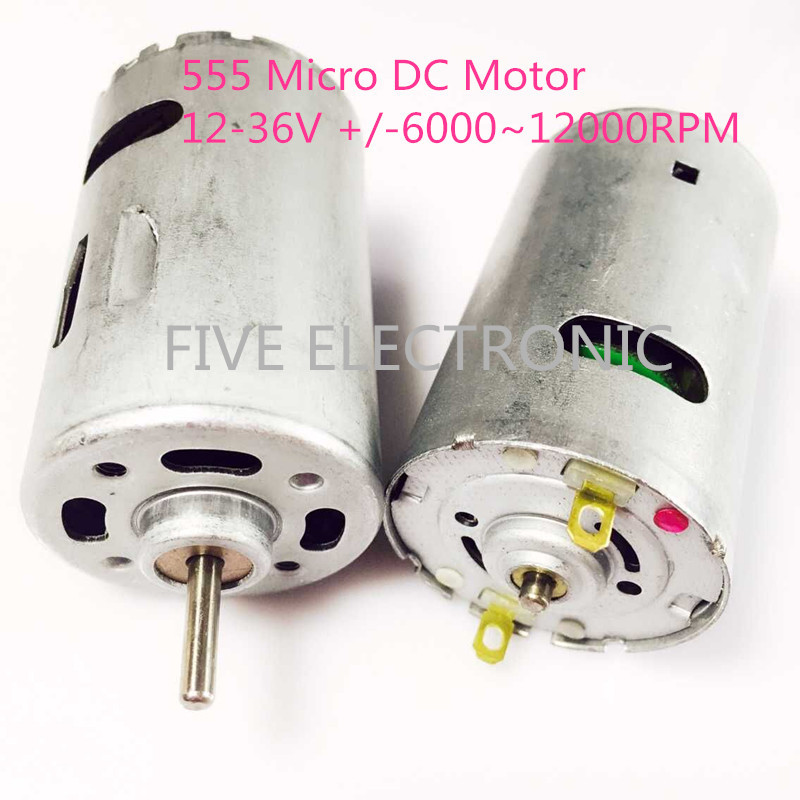 555 Micro DC Motor,12-24V,4000-12000RPM. use for Electric Drill Electric Tools blower