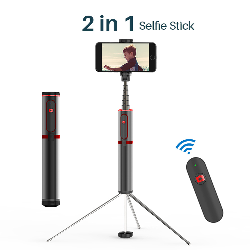 3 in 1 Bluetooth Selfie Stick Mini Tripod Extendable Monopod 360 Vertical Handheld Selfie Stick for iPhone X Max 8 7 Samsung S8 3 in 1 handheld bluetooth selfie stick for iphone x 8 7 6s plus wireless remote shutter monopod portable extendable mini tripod