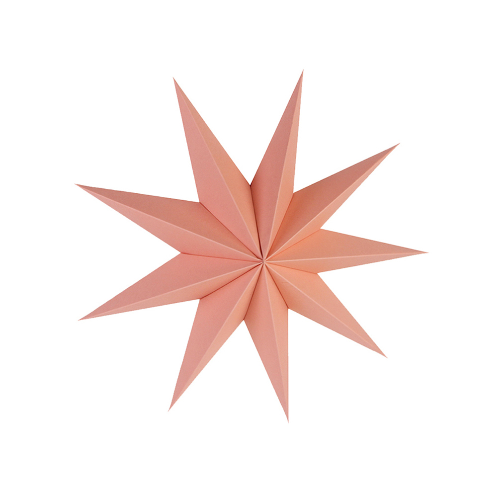 Set of 10 Pink Theme Hanging Decorations Paper Rosette Happy Birthday Banner Paper Star Lanterns for Kids Birthday Party Favors in Party DIY Decorations from Home Garden