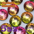 Free Shipping Nail Art Rhinestone Rainbow Color SS5(1.7-1.8MM) 1440pcs/pack Non Hotfix Flatback Crystal Stones