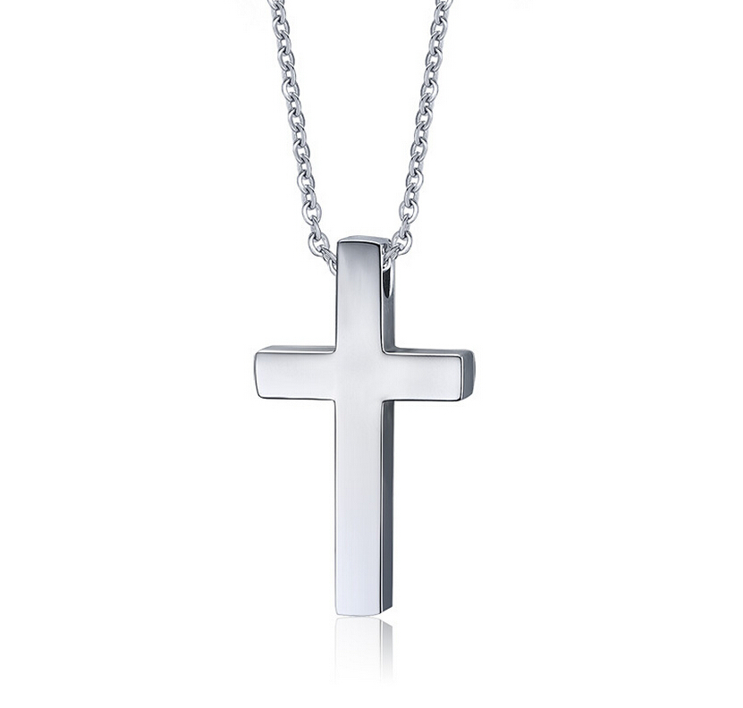 Stainless steel plain silver prayer cross pendant necklaces free stainless steel plain silver prayer cross pendant necklaces free chain in pendant necklaces from jewelry accessories on aliexpress alibaba group aloadofball Image collections