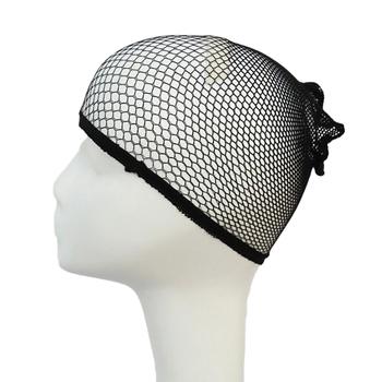 Nylonowe siatkowe siatkowe tkaniny siatkowe czarne dobrej jakości peruka z siateczki tkackie czapka z peruką i siateczkami tanie i dobre opinie ToneStyle-U 90 nylon+ 10 spandex MR1155-01 13 5*9cm Hairnets wig cap