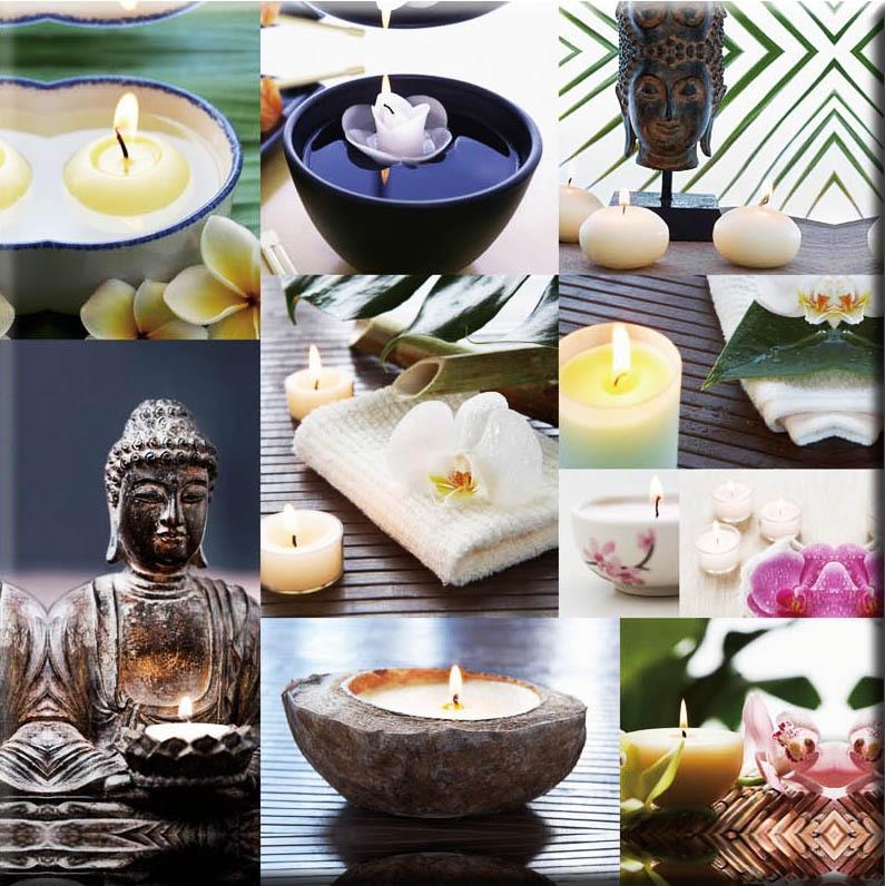 7 stks led verlichting gratis verzending wall art met led canvas boeddha kaars schilderijen light up uitgerekt en ingelijst art werk in 7 stks