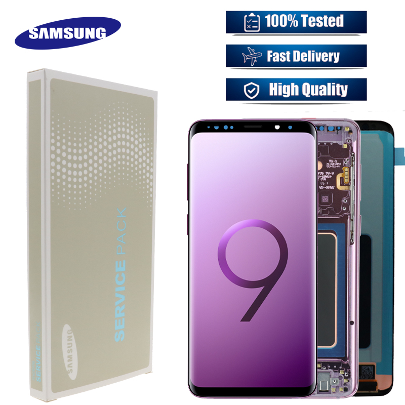 ORIGINAL SUPER AMOLED LCD With Frame for SAMSUNG Galaxy S9 Display S9 Plus Display G960 G965