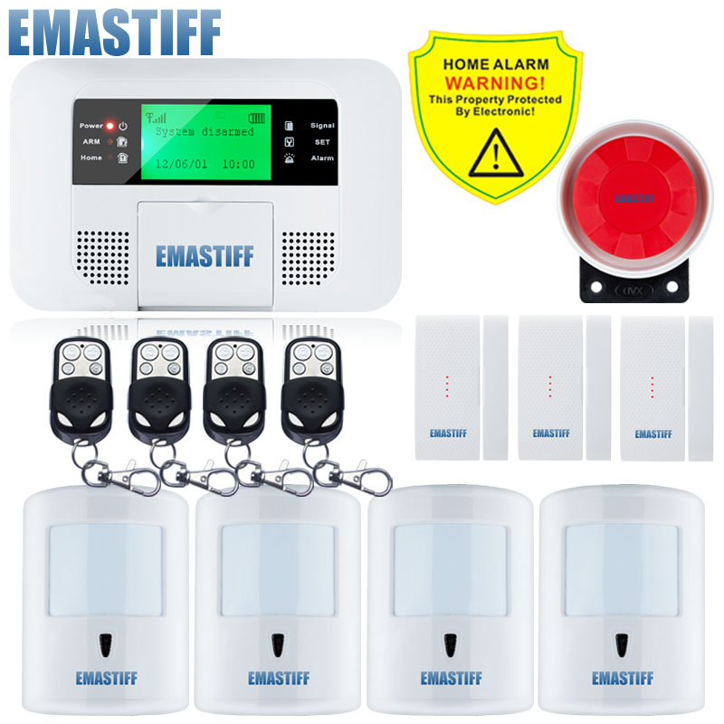 Free Shipping!Russian Spanish GSM PSTN Auto Dial Home Burglar Security Alarm System 10KG Pet friendly PIR Detector Sensor Kit free shipping app family guard english and french gsm pstn home security burglar voice pir alarm system motion detector sensor