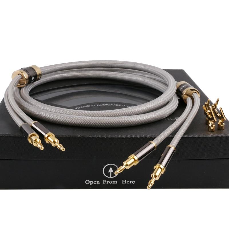 Skw OCC hifi lautsprecher kabel draht 4 leiter banane/y stecker high ...