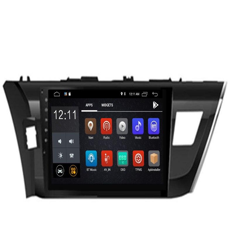 2019 Octa Core Android 8.1 8.0 compatible Toyota Corolla/Levin conduite gauche/droite 2013-2015 2016 lecteur DVD de voiture Navigation GPS Radio