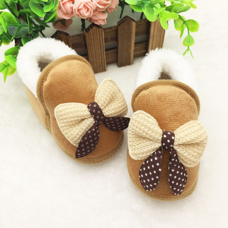 Newborn Baby Boy Shoes First Walkers Autumn Winter Baby Boy Soft Sole Shoes Infant Canvas Crib Shoes 0-18 Months