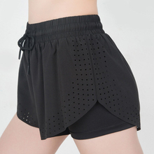 2019 Summer Pure Color Variety of Women's Shorts New Running Breathable Double Shorts Women Loose Tie Casual Shorts