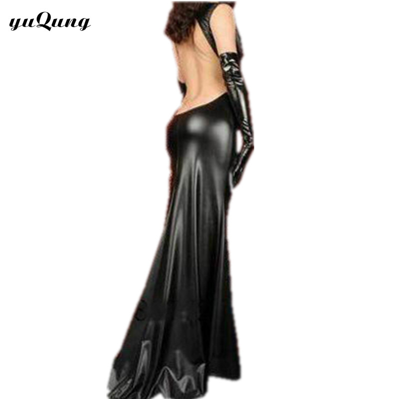Black lycra longdress