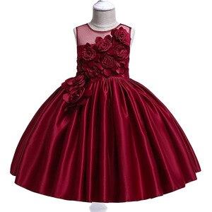 Image 3 - Vestidos de fiesta de princesa para niñas, pétalos de rosa, ropa de cumpleaños para niños y niñas, ropa para niños, disfraz de bebé L5068