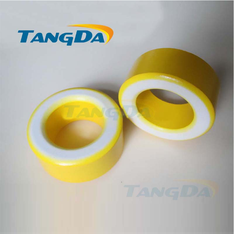 Tangda Iron powder cores T225-26B OD*ID*HT 58*35*26 mm 160nH/N2 75ue Iron dust core Ferrite Toroid Core toroidal yellow white tangda ferrite cores emi bead core 58 40 18 58 40 18 mm ring coil emi toroidal core anti interference filter t core type a