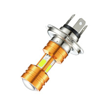 Motorcycle Headlight Bulb H4 COB LED Chip Motor Fog Lights 8~85V White 6000K 3500LM for Honda Kawasaki Suzuki Yamaha