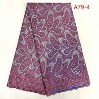 Fashion Designs Nigerian Lace Fabric Cotton Swiss Voile Lace African Fabric For Nigerian Wedding Dress FANCYJU231