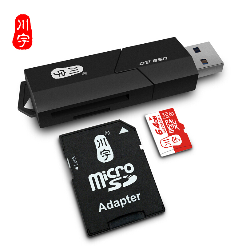 Kawau USB 2.0 Microsd Card Reader Supports Up to 128GB with SD Slot Card Reader C295 High Quality Speed for Computer