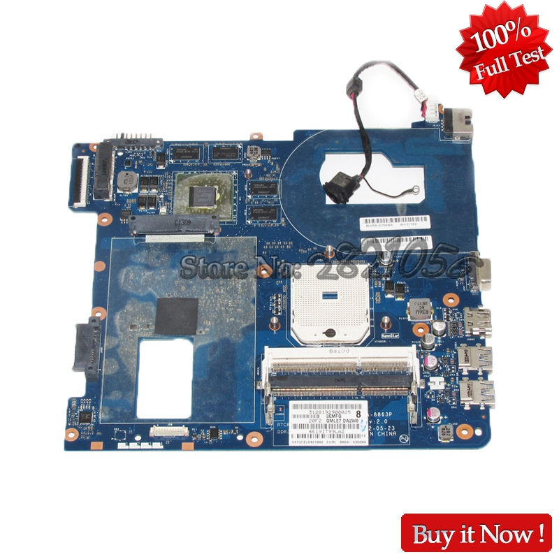 NOKOTION Brand New For Samsung NP355 NP355C4C NP355V5C Laptop Motherboard QMLE4 LA-8863P BA59-03568A HD7600M Video card free shipping the laptop motherboard for samsung np355 np355c4c np355v5c qmle4 la 8863p hd7600 1gb socket fs1 ddr3 work perfect