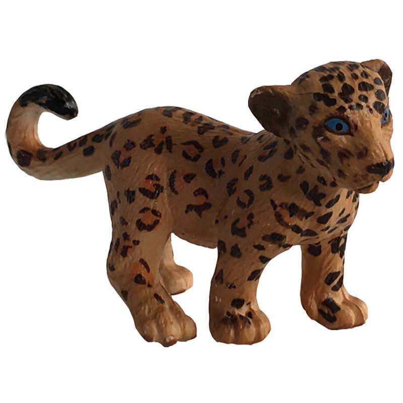 Mini Figuras de Ação Modelos Animais de Plástico Brinquedos Presente Para As Crianças Tigre Elefante Panda Orangotango Leão Urso Ornamentos # E