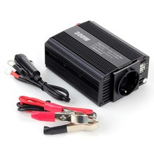 цена на 300W Power Inverter 12V to 220V Car Inverter Cigarette Lighter Socket and 2 Clips 12v 220v Inverter with Dual USB Ports