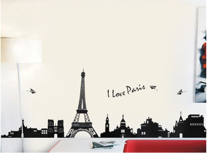 Us 8 5 Paris Eiffel Tower Home Decoration Wall Stickers Vinyl Painting Bathroom Mirror Adhesive Murals Diy Wall Art Decals Wall Paper في Paris