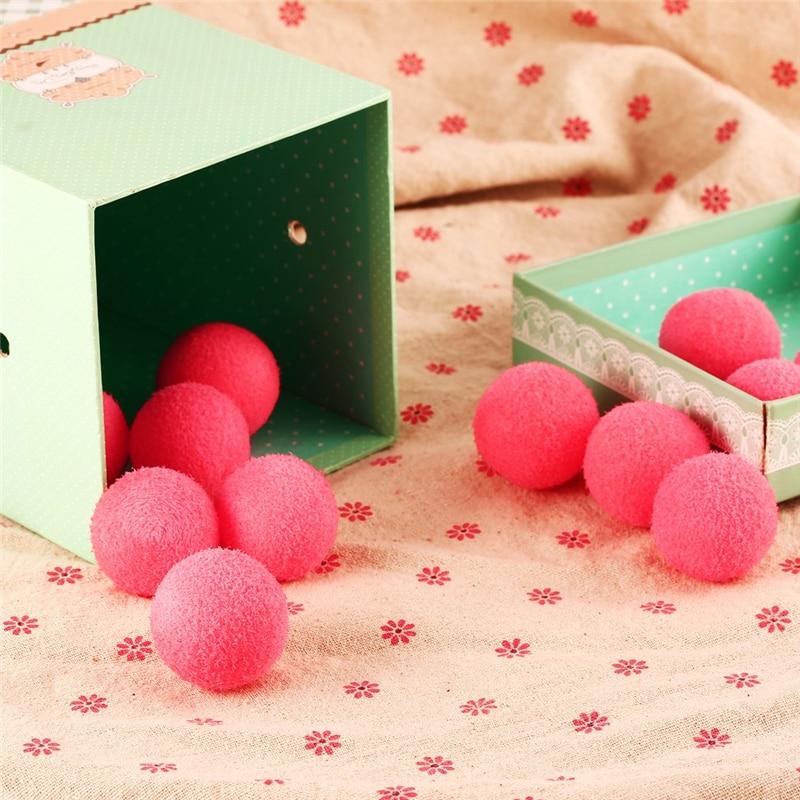 INBEAJY 12pcs Red Stress Relief Balls Sponge Foam Balls Hands Exercise Squeeze Toys