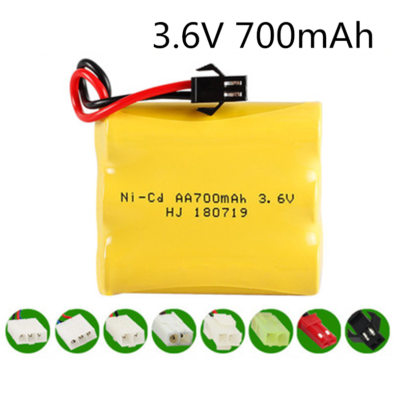 3.6V 700mah NI-CD NiCD Battery AA 3.6V Battery Pack For RC Toy Car GUN TANK Trucks Trains Boat RC Toy Model Battery  3.6 V