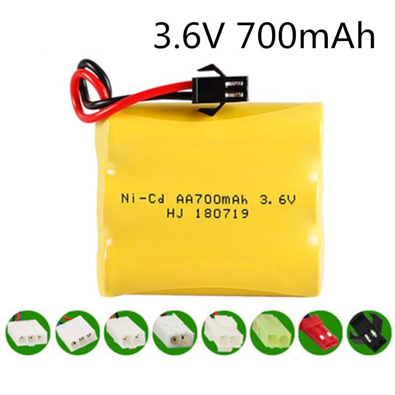 3.6V 700mah NI-CD NiCD Battery AA 3.6V Battery Pack For RC Toy Car GUN TANK Trucks Trains Boat RC Toy Model Battery  3.6 V