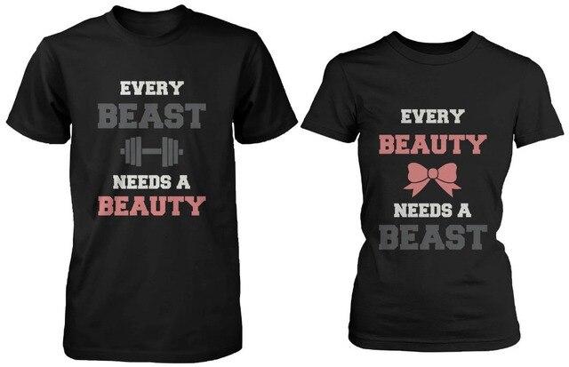 3479b907f Hot Sale Summer Couple T-Shirt- Cute Matching for Boyfriend and Girlfriend  Unique Custom Plain 100% Tshirts Euro Size Garment
