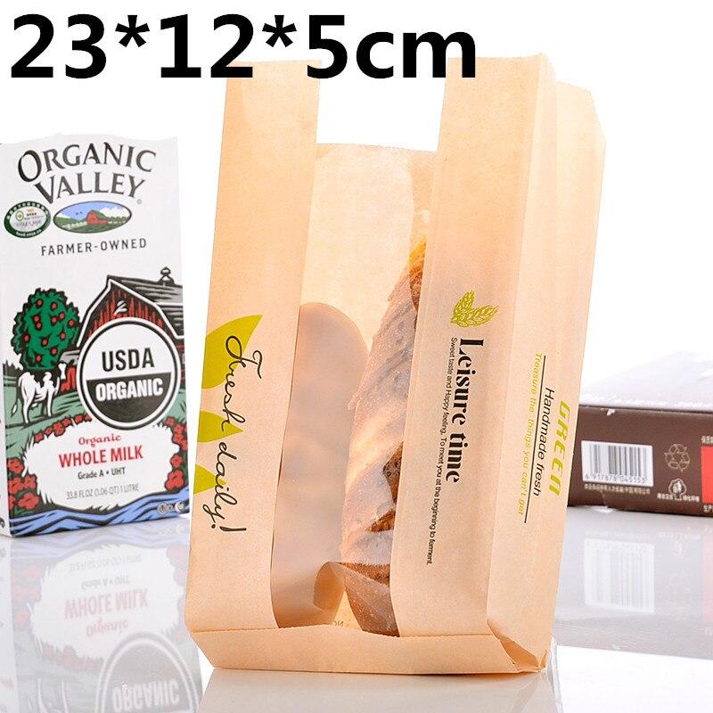 100 Pcs Lot Ramah Lingkungan Kraft Tas Kertas Minyak Untuk Graham