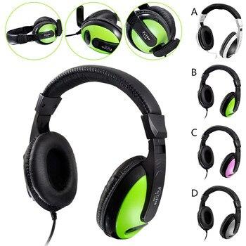 Usb Headband WIth MIC Foldable DJ Headphones 3.5mm Wired Game Earphones KulaklikNoise Canceling Headphone