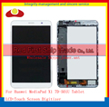 "7.0"" For Huawei MediaPad X1 7.0 7D-501U Tablet Full LCD Display Touch Screen Panel Digitizer Frame Assembly Complete Black White"