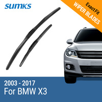 Free Shipping Sumks Framless Wiper Blade For X3 F25 Soft Rubber 26 19 Windshield Wiper Blade