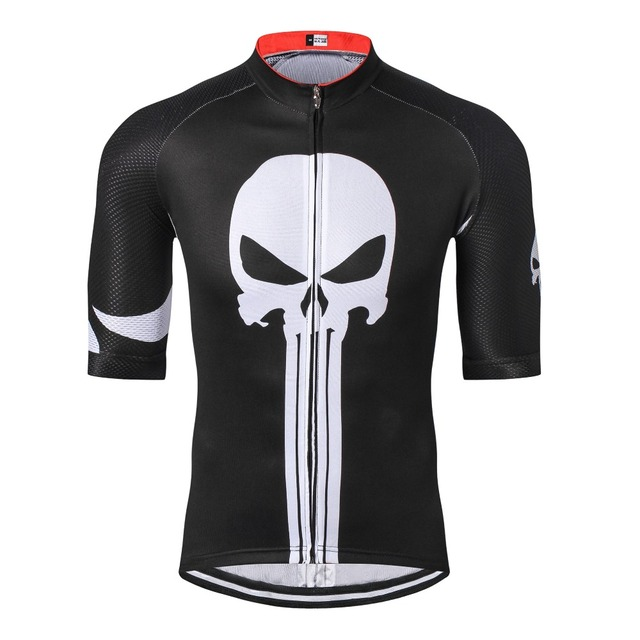 0bc475d6b Weimostar Men Cycling Jersey Short Sleeve Bike Shirt Punisher Black  White-in Cycling Jerseys from Sports   Entertainment on Aliexpress.com
