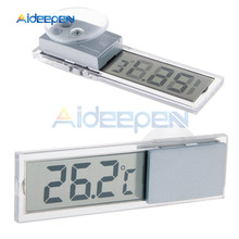 Car LCD Digital Thermometer Auto Window Outdoor Energy-saving Gauge Smart Display Temperature Instruments Accessories