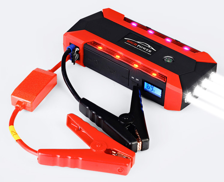 For 6L Petrol 4L Diesel - Car Jump Starter 800A Peak Car Battery Power Pack 12V Auto Charger Starting Device with Bag 6l petrol 4l diesel 74000mwh car jump starter 800a peak car battery power pack 12v auto charger portable starting device bank