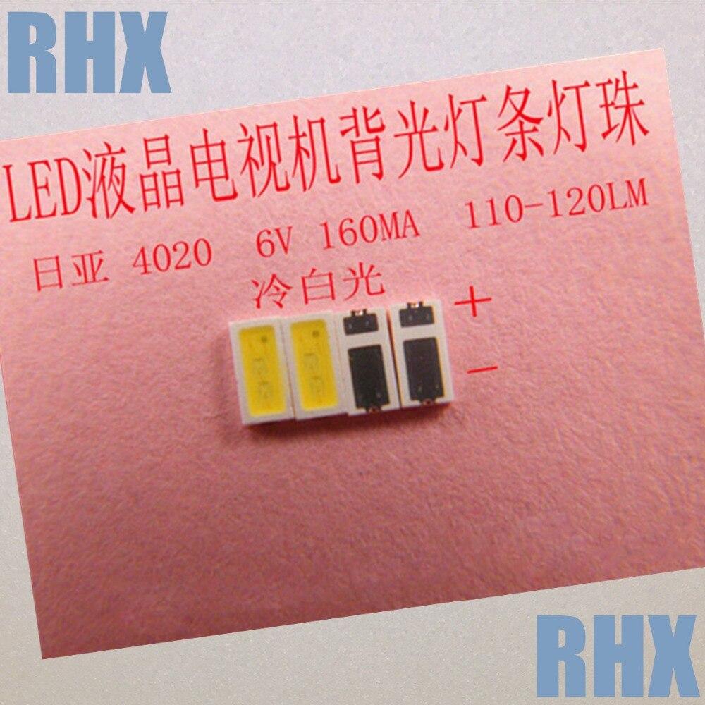 100 шт./лот для ремонта Changhong ЖК-дисплей ТВ светодиодная подсветка Статья лампа SMD светодиодов <font><b>4020</b></font> 6 В холодный белый светодиод