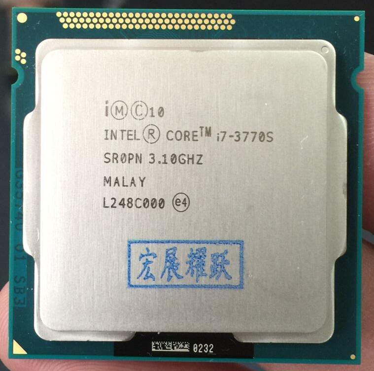 Intel Core i7-3770S i7 3770 S Processeur cpu 65 W LGA 1155 PC Ordinateur De Bureau Quad-Core CPU
