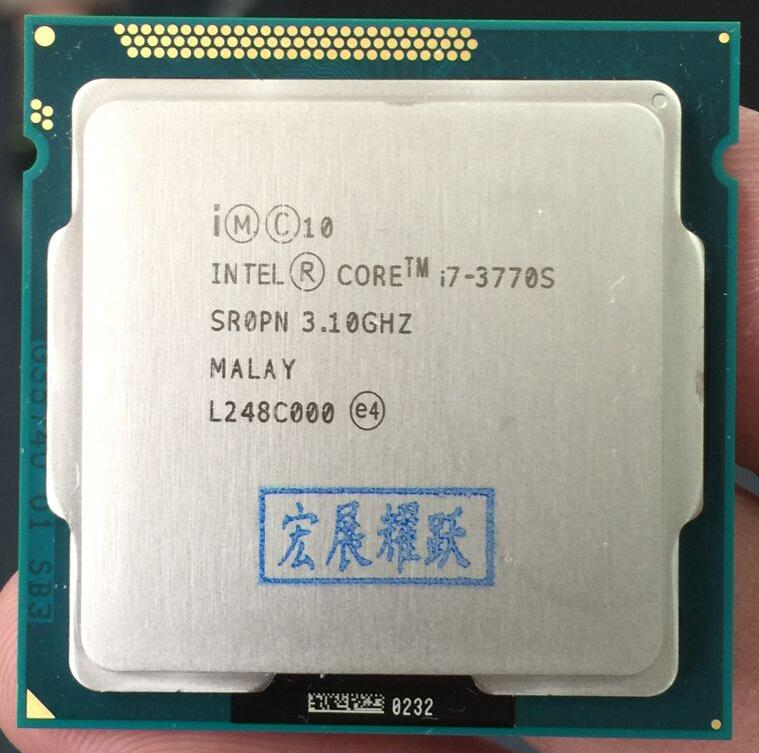 Processeur Intel Core i7-3770S i7 3770 S processeur 65 W LGA 1155 PC ordinateur de bureau Quad-Core cpu