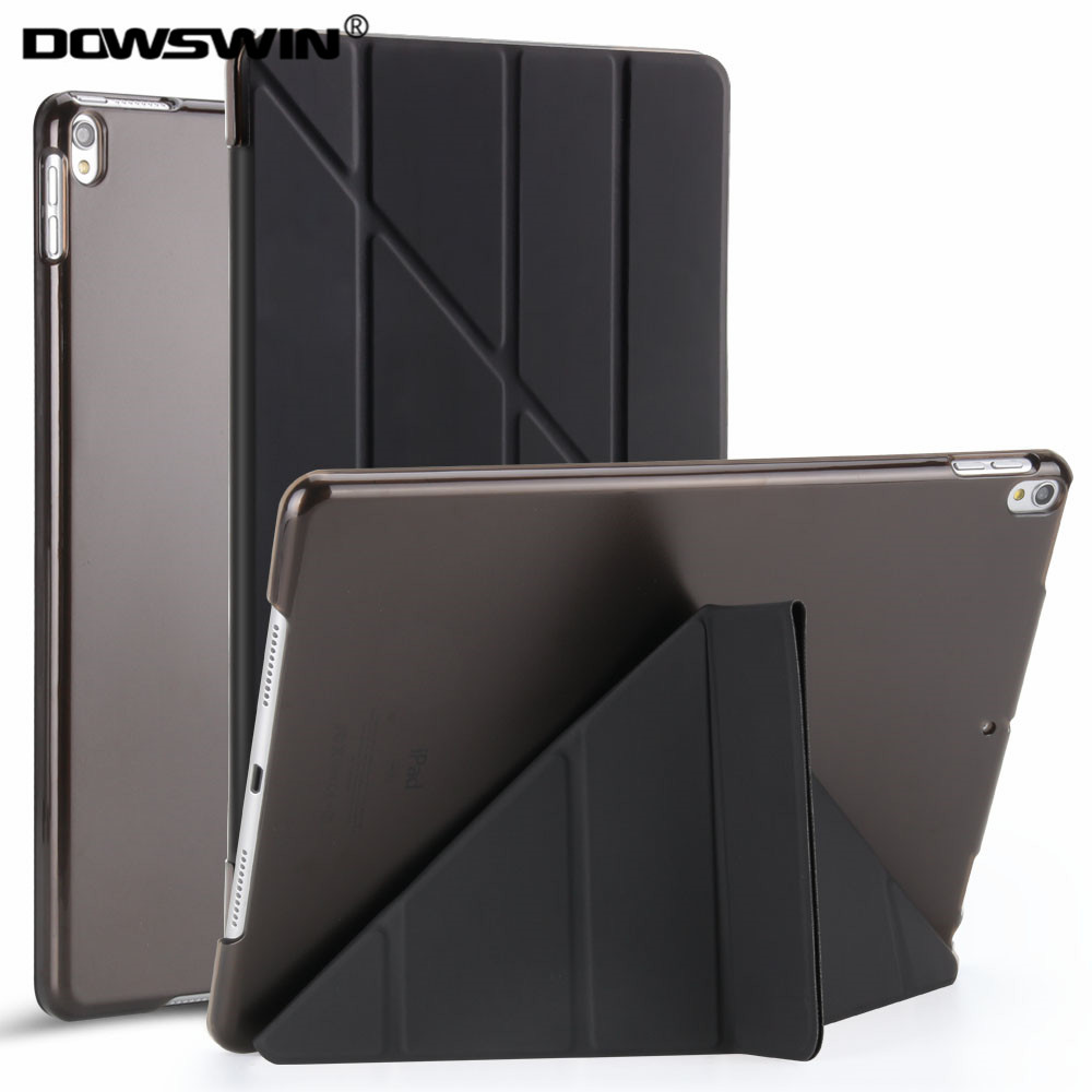 DOWSWIN case for ipad pro 10.5 inch PU leather transparent&PC hard back cover fashion style flip stand for ipad pro 10.5 case for ipad mini4 cover high quality soft tpu rubber back case for ipad mini 4 silicone back cover semi transparent case shell skin