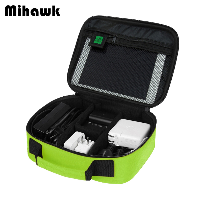 Mihawk עמיד למים כבל דיגיטלי שקיות נסיעות נייד USB גאדג 'ט לארגן מטען חוטים רוכסן פאוץ Tablet Pc דברים אספקת ציוד