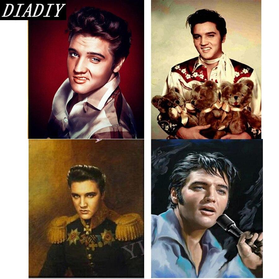 Elvis presley diy plein résine 5d diamant peinture elvis plein de diamants broderie portrait diamant mosaïque décor à la maison Photo 5d art