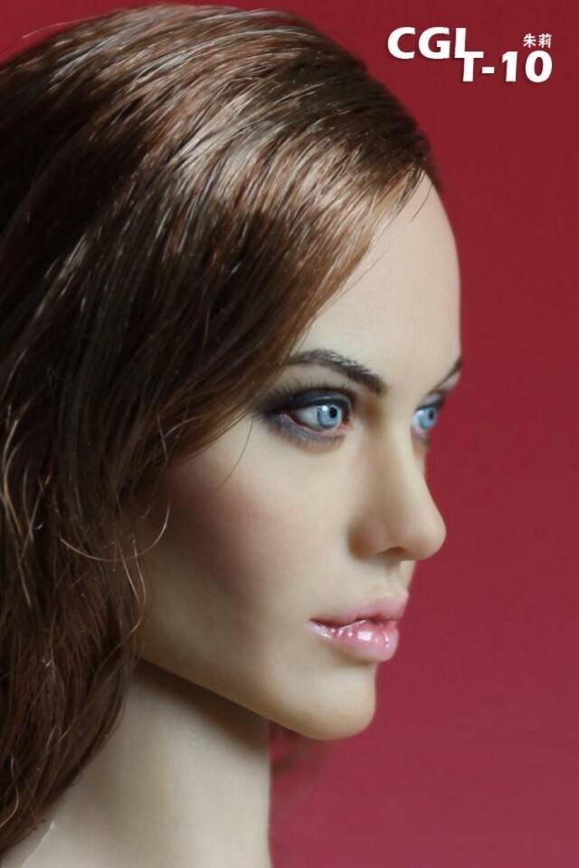 Femme tête sculpte CGL T-10 1/6 fille Sexy Angelina Jolie tête sculpte pour 12 pouces Phicen Tbleague Jiaou poupée jouets