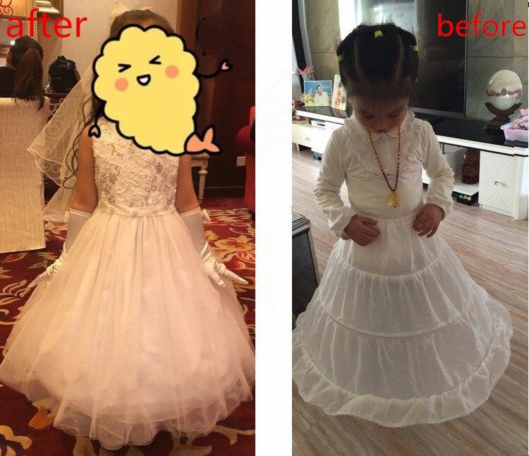 2018 Korte onderrok Girl Kids Mini Tutu 1 laag Petticoat Crinoline - Bruiloft accessoires - Foto 2