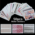 50 sheets/pack New Nail Art Water Transfer Mixed Design Sticker Watermark Decals DIY Decoration for Nail Beauty Tools
