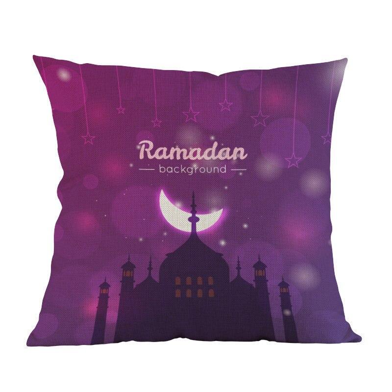 Islamic Month Ramadan Muslim moon mosque printed Decor cushion cover Home Decorative for sofa chair seat Pillow case friend gift