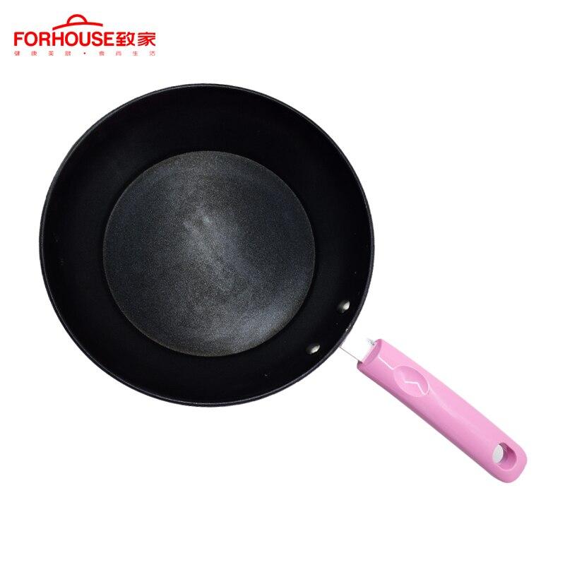 10 Inch Non-stick Frying Pans Skillets Iron Wok Cookware Pancake Pot Baking Cooking Safe Frying Pot Induction Cooker