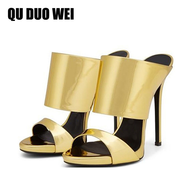 golden color women sexy thin high heel pumps shoes women open toe summer sandals night club party shoes plus size 34-43 meotina shoes women sandals summer sexy stiletto high heel sandals open toe ankle strap party pumps lady shoes purple size 34 43
