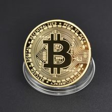 999 Gold Plated Hot sale Bitcoin Coin Bit Coin Metal Coin Physical Cryptocurrency Commemorative Coin(China)