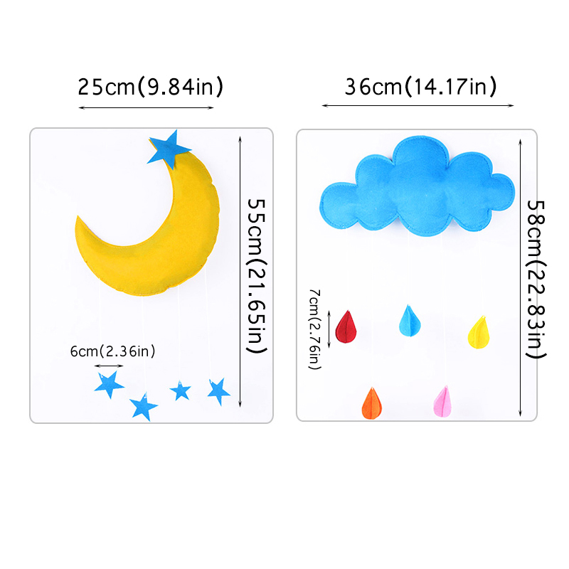 US $1 81 25% OFF Creative Cloud Rainbow Moon Baby Room Decoration Baby Bed  Tent Hanging Toy Baby Kids Photo Props Toys For Babykamer Decoratie-in