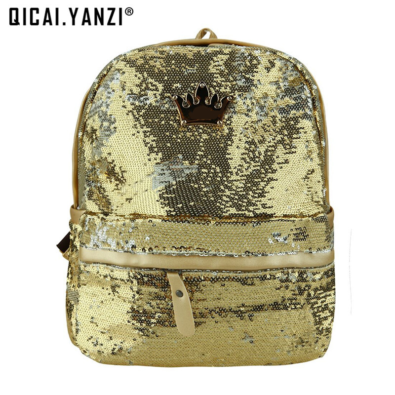 2017 Fashion Cute Girls Sequins Backpacks Womens Paillette Leisure School Book Bags Female Mochila rugzak Mujer Borsa P110  womens fashion cute girls sequins backpack paillette leisure school bookbags leather backpack ladies school bags for teenagers
